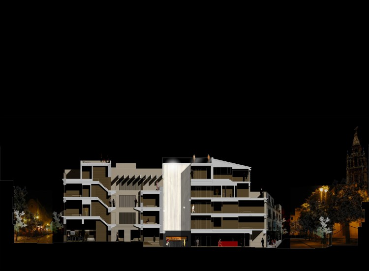 Hotel EME Seville Donaire Arquitectos Section